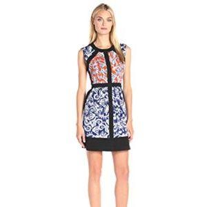 BCBGMax Azria Women's Donatella Print Block Dress